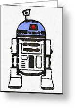 Star Wars R2d2 Droid Robot Greeting Card