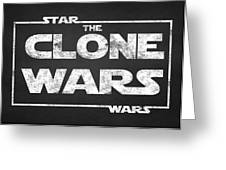 Star Wars The Clone Wars Chalkboard Typography Greeting Card