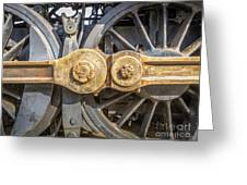 Starboard Drive Wheels And Connecting Rods No. 9000 Greeting Card