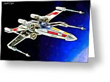 Starfighter X-wings - Da Greeting Card