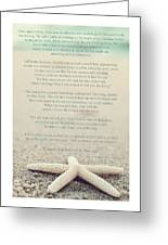 Starfish Make A Difference Vintage Set 1 Greeting Card