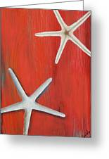 Starfish On Red Greeting Card