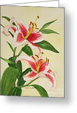 Stargazer Lilies - Watercolor Greeting Card