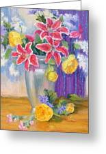 Stargazers And Peonies Greeting Card