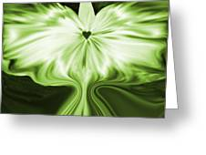 Starlight Angel - Green Greeting Card