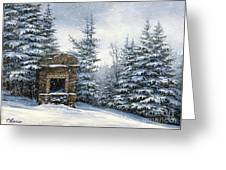 Starr King Stone Fireplace Greeting Card