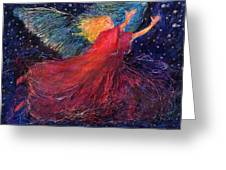 Starry Angel Greeting Card
