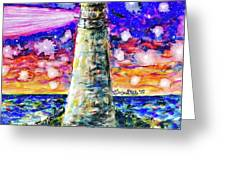 Starry Light Greeting Card by Monique Faella