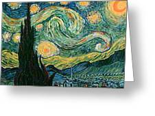 Starry Night After V. Vangogh Greeting Card
