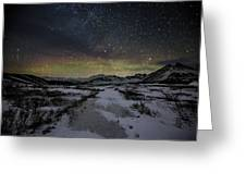 Starry Night In Iceland Greeting Card