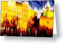 Starry Night In Prague Greeting Card