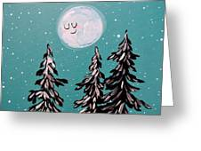 Starry Night Moon  Greeting Card