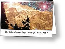 Starry Night Over Mount Baker Greeting Card