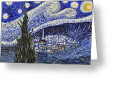 Starry Nights And Serenity  Greeting Card
