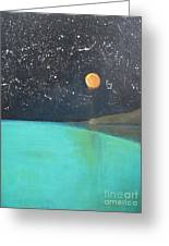 Starry Sky Above The Ocean Greeting Card
