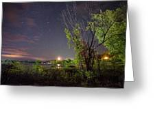 Starry Sky Over Lake Champlain New York Greeting Card