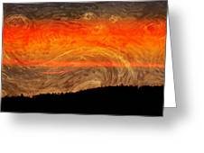 Starry Sunset Greeting Card