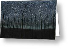 Starry Trees Greeting Card
