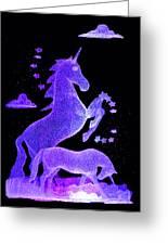 Starry Unicorns Greeting Card