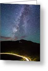 Stars And Car Trails Greeting Card