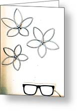 Stars  And Glasses Greeting Card