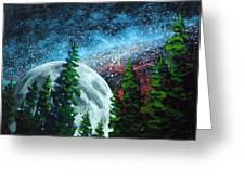 Stars And Moon Greeting Card