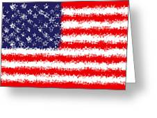 Stars And Stars And Stripes Greeting Card