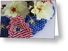 Stars And Stripes Bouquet Greeting Card