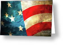 Stars And Stripes Curved Greeting Card