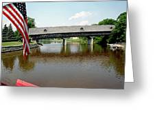 Stars And Stripes Frankenmuth Michigan Greeting Card