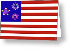 Stars And Stripes Of Retrocollage Greeting Card