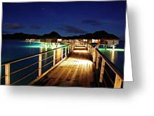 Stars Over Bungalows Greeting Card