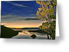 Stars Over Emerald Bay Greeting Card