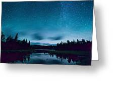 Stars Over Lake Vermilion Greeting Card