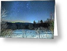 Stars Over The New Hampshire White Mountains Greeting Card