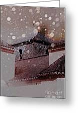 Starting To Snow Greeting Card