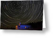 Startrail Greeting Card