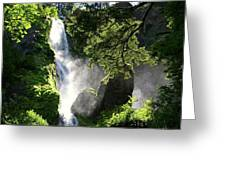 Starvation Creek Falls In September  Greeting Card