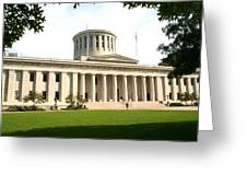 State Capitol Of Ohio Greeting Card
