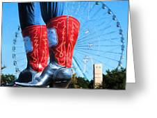 State Fair Of Texas Icons Greeting Card