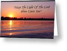 State Lake Sunset Greeting Card