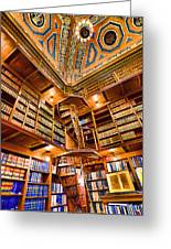 Stately Library Greeting Card