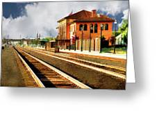 Station In Waiting Greeting Card