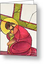 Stations Of The Cross - 03 Jesus Falls The First Time - Mmjff Greeting Card