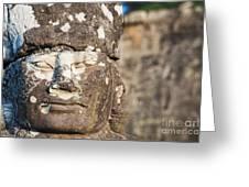 Statue At Angkor Thom Greeting Card