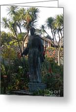 Statue At Mission Carmel Greeting Card