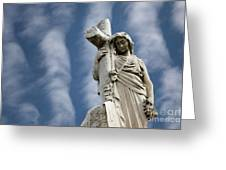Statue Cross Greeting Card
