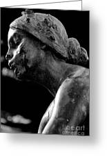 Statue In Black And White Greeting Card
