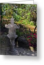 Statue In Shadows Greeting Card