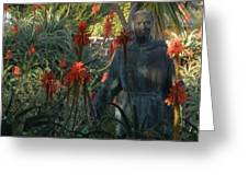 Statue In The Garden  Greeting Card